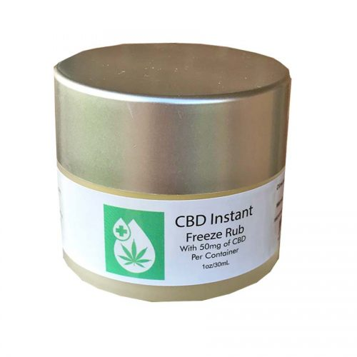 Instant Freeze CBD Pain Relief Topical Rub with 50mg of pure CBD