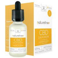 NatureFine+ Calm Drops CBD Tincture with Lavender and Vetiver 4